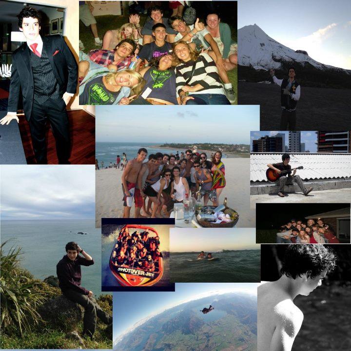 Família faz montagem com fotos de Felipe Melo