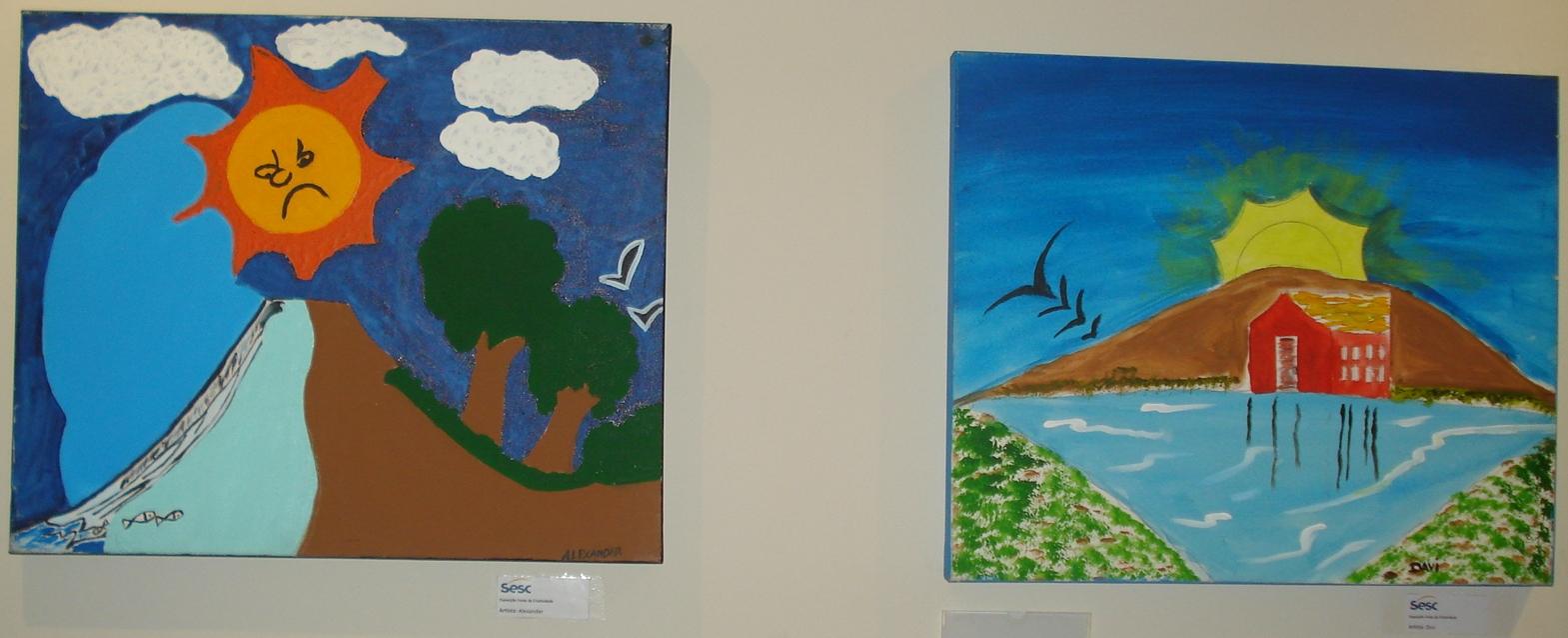 Exposição reúne 25 obras artísticas de jovens de comunidades de Fortaleza