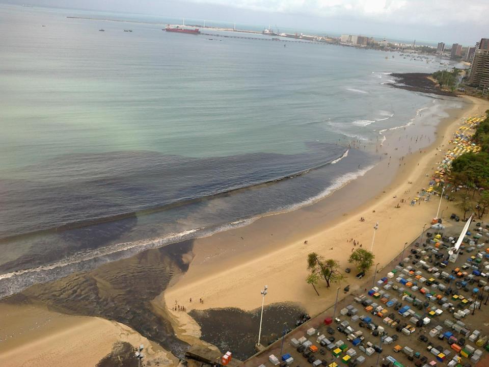 Mancha de sujeito na Praia do Náutico
