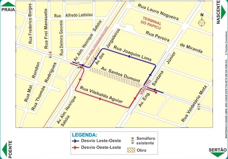 As obras de mobilidade urbana na Via Expressa iniciam neste sábado (11), com a construção de um túnel na Avenida Santos Dumont, em Fortaleza.