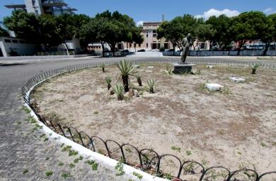 """""""Programa de Adoção de Praças e Áreas Verdes"""" contribui com exemplos responsabilidade social. (Foto: Praça da Bandeira / Igor de Melo /arquivo)"""