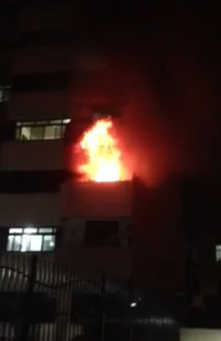 Mais um incêndio foi registrado em um prédio residencial na área nobre de Fortaleza