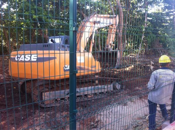 Tratores iniciam trabalhos no Parque do Cocó (FOTO: João Alfredo)