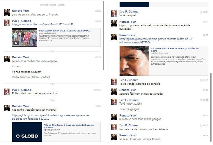 Ivo Gomes discute mais uma vez com um internauta no Facebook.