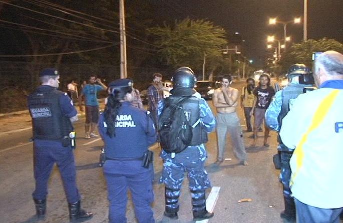 retirada manifestantes 1