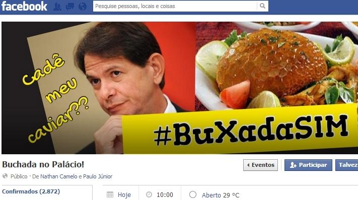 Manifestantes pretendem servir buchada e outras comidas nordestinas (IMAGEM: Reprodução/Facebook)