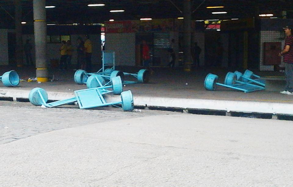 Terminal do Siqueira foi dos mais prejudicados (FOTO: Gabriela Tavares)