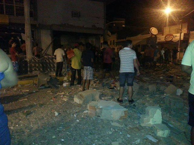 Este é o 105° ataque a banco no Ceará. (FOTO: Reprodução/Facebook)