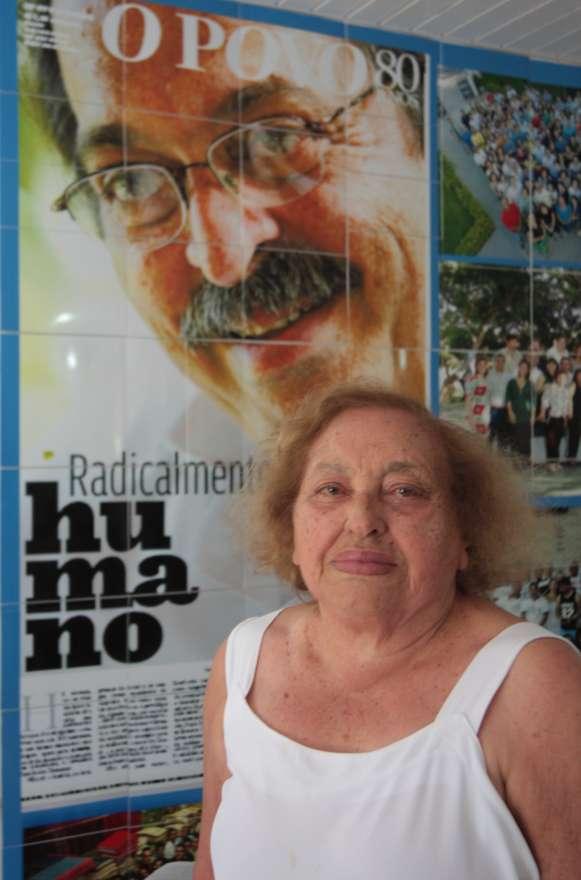 Lúcia Dummar, filha do fundador do grupo O Povo, Demócrito Rocha, faleceu na manhã desta quarta-feira (18) (FOTO: Divulgação/ Grupo O Povo)