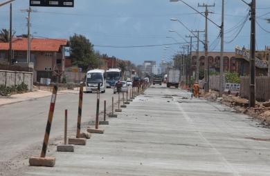 As melhorias incluem a pavimentação, drenagem e padronização dos passeios (FOTO: Marcos Moura)