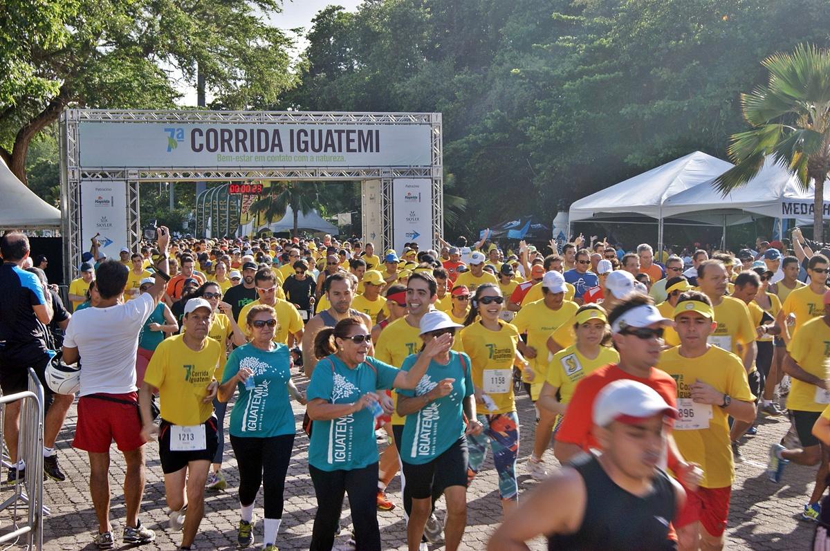 Mais de 3 mil pessoas correram os seis quilômetros do novo trajeto da 7ª edição da Corrida Iguatemi