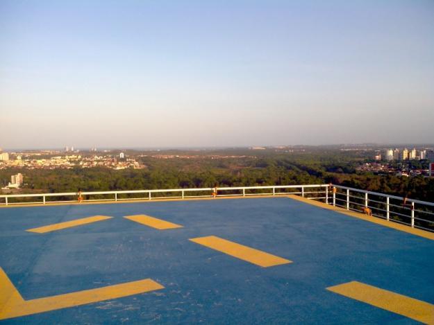 Fortaleza é a cidade com mais helipontos no Ceará. Ao todo, são 15