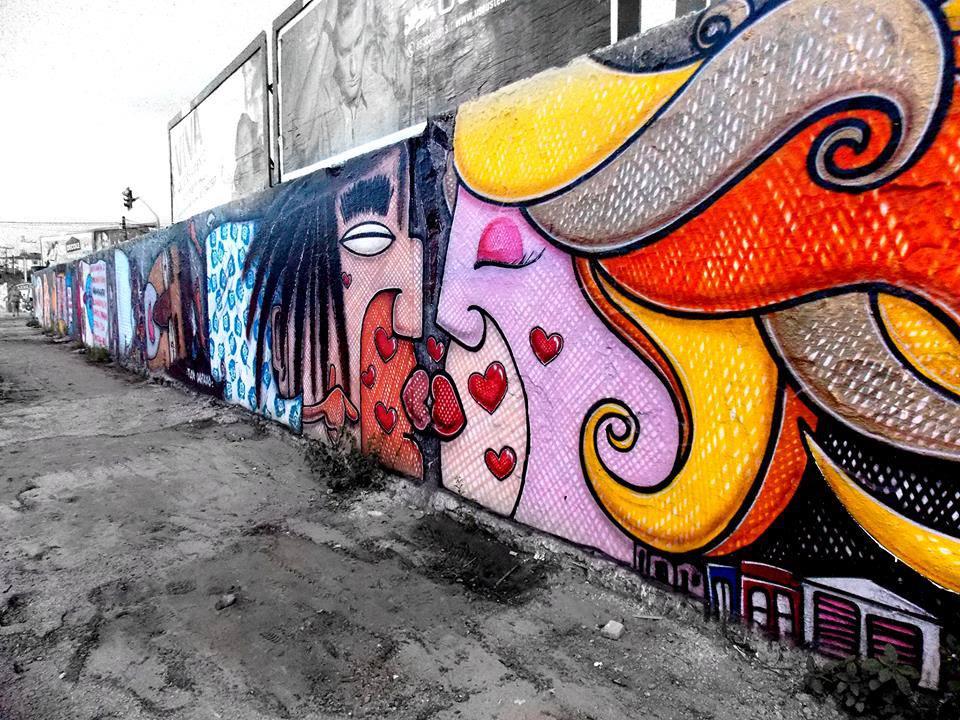 O talento do artista plástico Luz transforma as ruas de Fortaleza em uma galeria de arte. (FOTO: Facebook Grafite Luz)