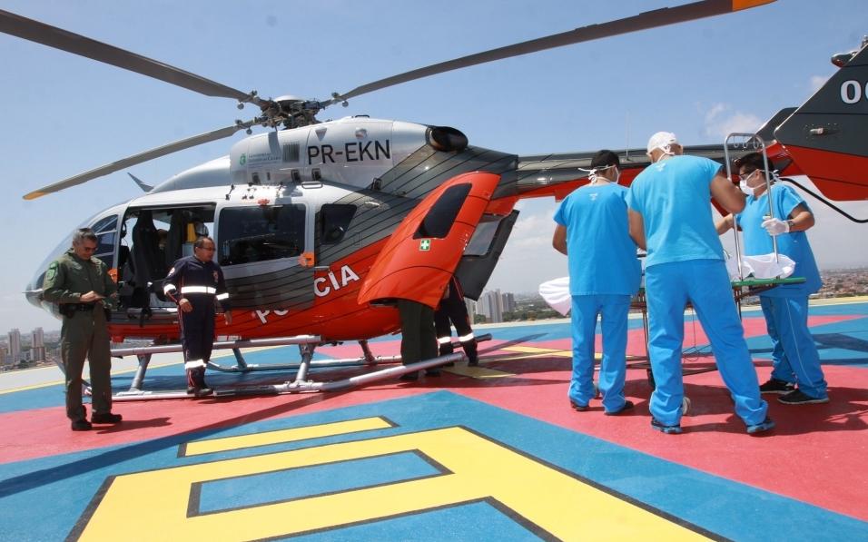 Prefeito Roberto Cláudio inaugura heliponto do IJF. (FOTO: Divulgação/ Prefeitura de Fortaleza)