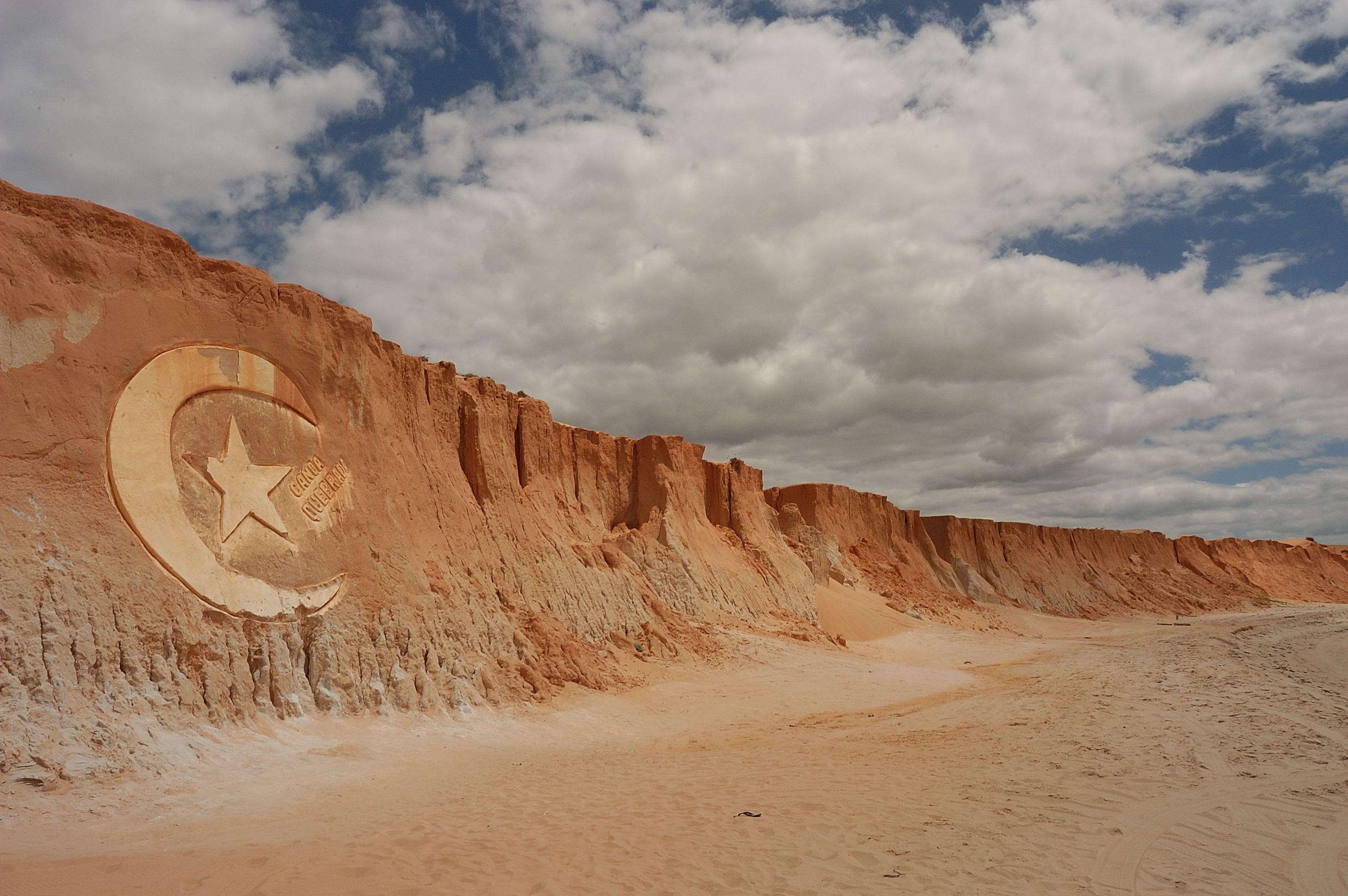A cidade de Aracati foi uma das mais visitadas, famosa por causa da praia da Canoa Quebrada