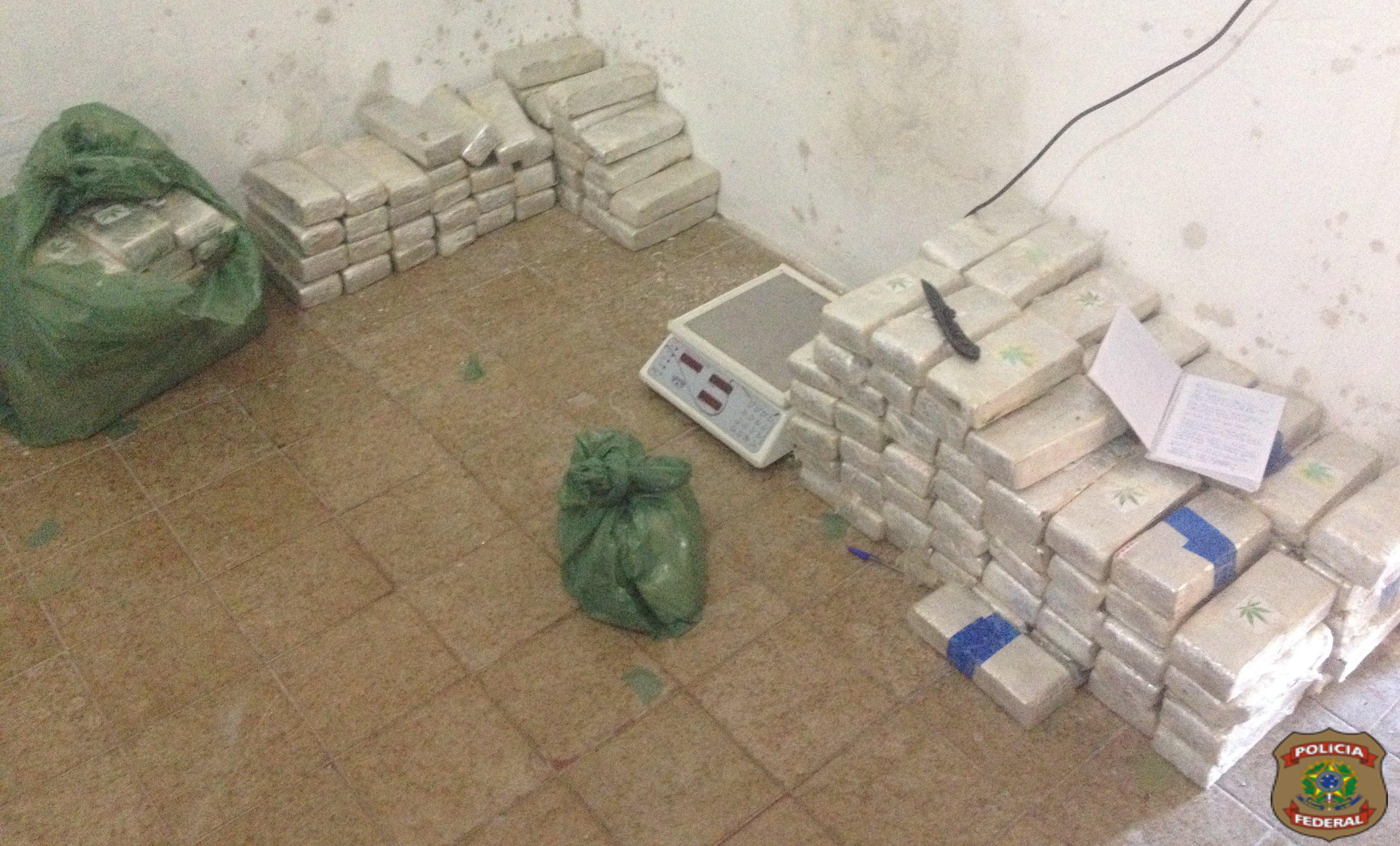 Parte da droga estava guardada na casa dos traficantes (FOTO: Polícia Federal)