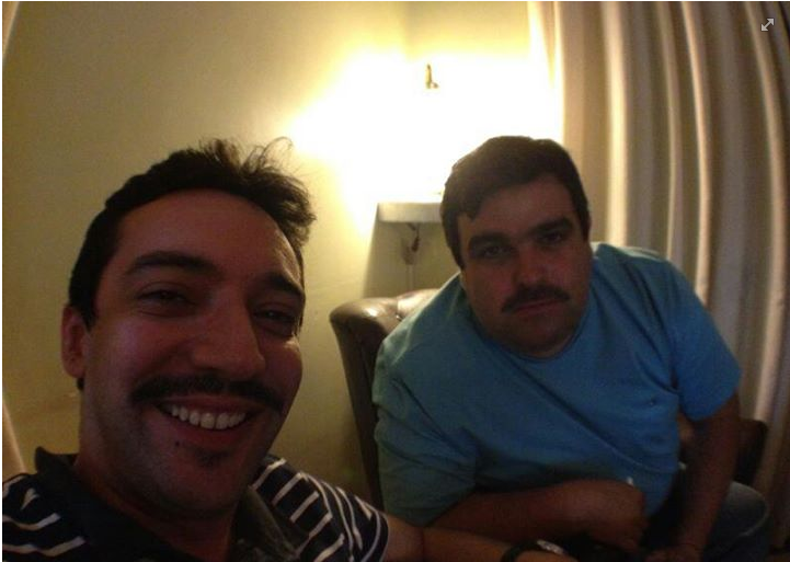 Saulo Herculano e Airton Correia aderiram a moda Movember (FOTO: Arquivo Pessoal/ Facebook)