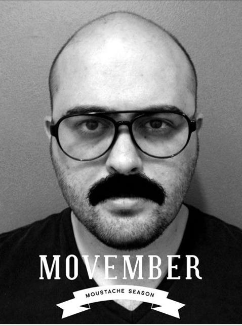 Gabriel Ramalho aderiu a moda Movember (FOTO: Arquivo Pessoal/ Facebook)