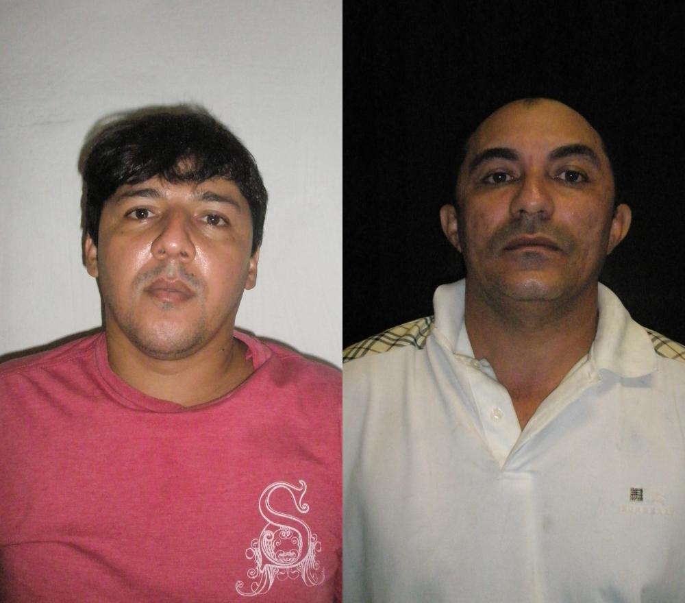 Dupla é acusada de integrar uma quadrilha, responsável por arrombar cofres. Da esquerda para a direita: Carlos Eduardo Pereira e Francisco Adaílson de Lima (FOTO: Divulgação)