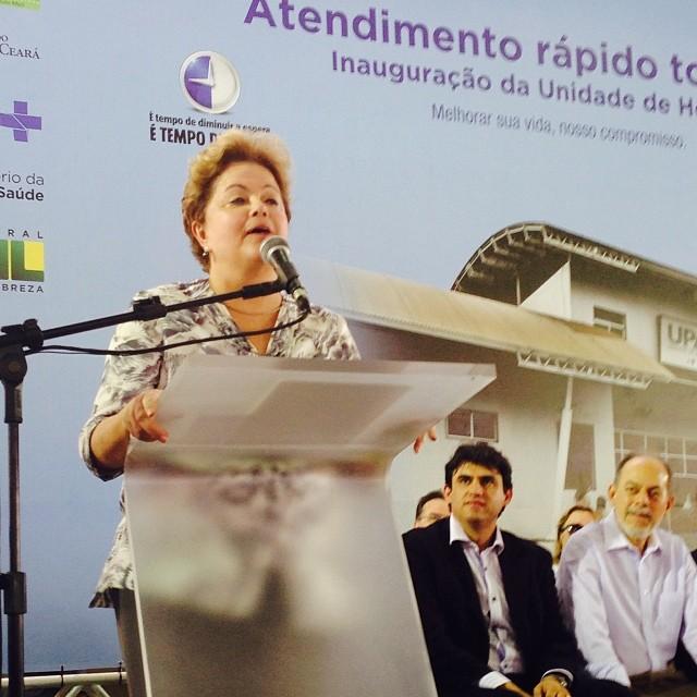 Em Horizonte, Dilma inaugurou uma UPA 24h (FOTO: Emerson Damasceno)