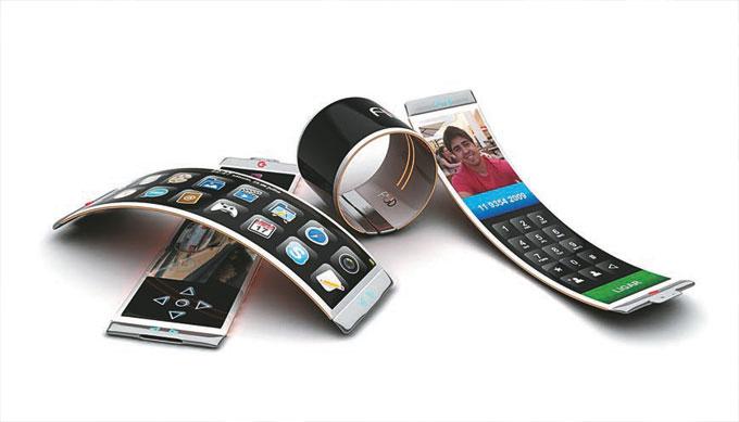 Uma das apostas da utilização de grafeno é na fabricação de aparelhos móveis mais finos e flexíveis (FOTO: Reprodução)