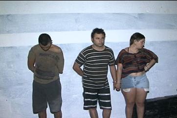 Três pessoas foram presas em flagrante (FOTO: Reprodução/TV Jangadeiro))