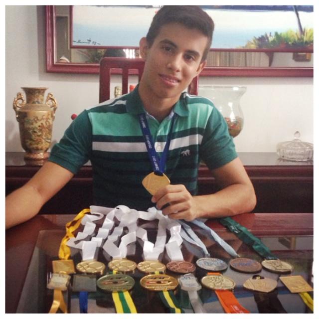 Pedro Costa é medalhista de ouro por 5 vezes consecutivas na Olimpíada Brasileira de Matemática