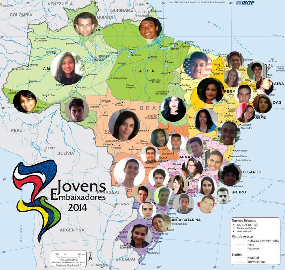 Os cearenses Gerleine Silva e Janilson Caraça estão entre os 37 brasileiros que vão participar do programa Jovens Embaixadores nos Estados Unidos (FOTO: Internet)