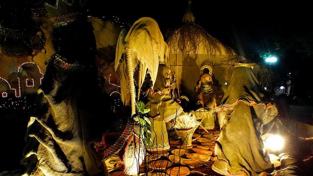 PRESÉPIO DE NATAL: simboliza o momento e o ambiente em que Jesus Cristo nasceu (FOTO: Gulherme Bacellar)