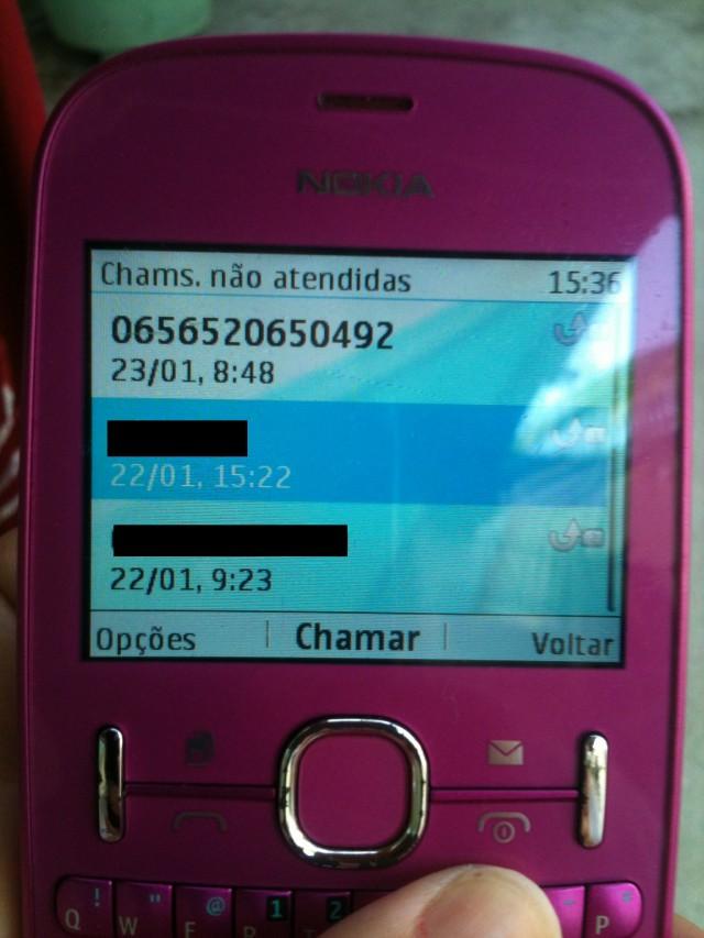 Relatos também dizem que a ligação pede dados pessoais. O número que origina a chamada é de Mato Grosso (DDD 65) e usa o código da operadora CGB VoIP Informática e Telecomunicação (FOTO: Monique Oliveira)