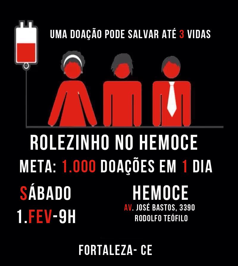 Rolezinho no Hemoce está agendado para 1º de fevereiro