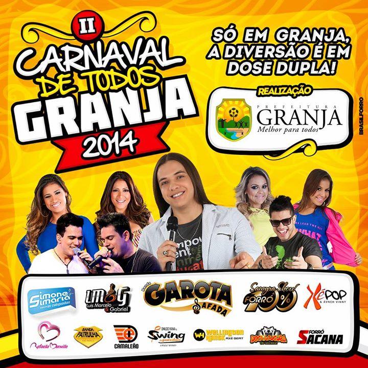 Granja é um dos municípios com menor IDH do estado e contratou várias atrações (FOTO: Reprodução)