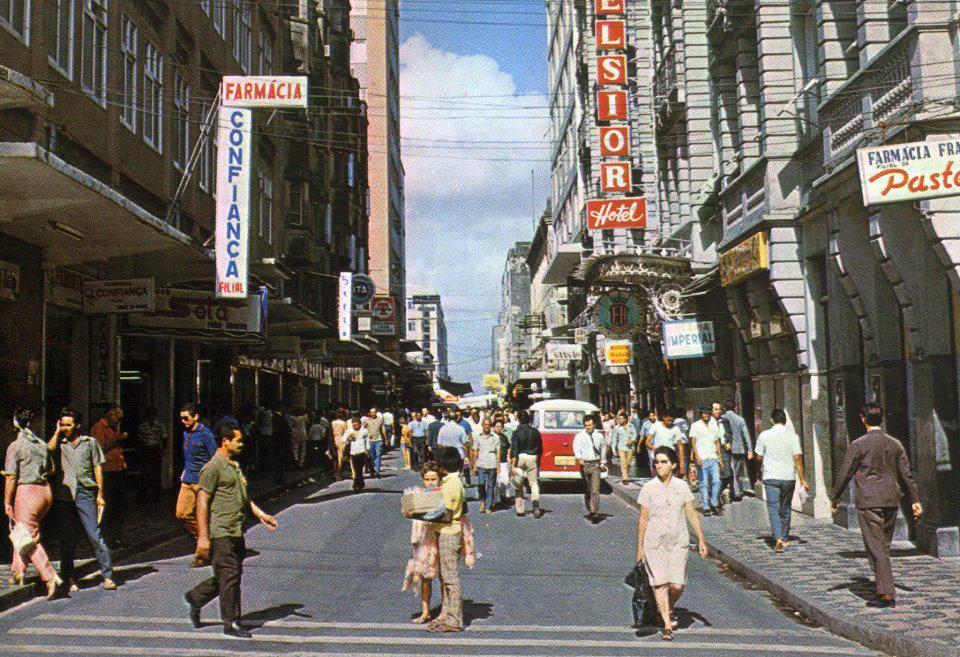 Rua Guilherme Rocha na década de 1950