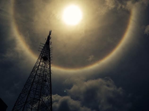 Fortalezenses registraram fenômeno no céu (FOTO: Liliana Benevides)