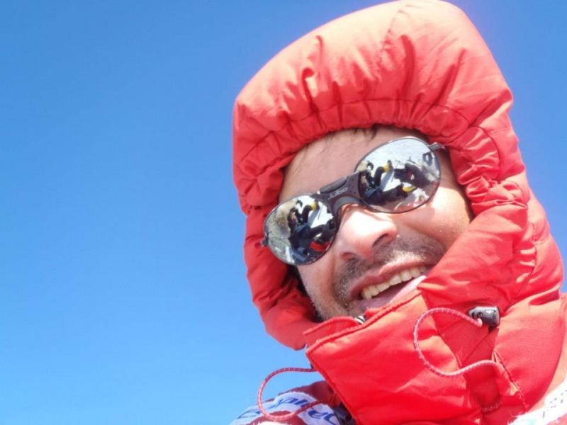 Rosier se prepara para escalar o Monte Everest (FOTO: Arquivo pessoal)