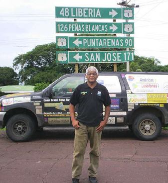 Sampa viajou por 14 países de carro até chegar em Fortaleza (FOTO: Arquivo pessoal)