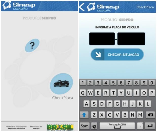 Check Placa: primeiro módulo do Sinesp Cidadão