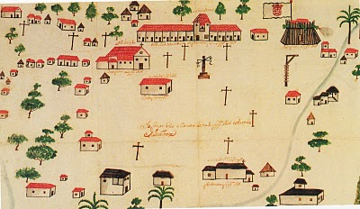 Imagem do mapa de Fortaleza na época em que foi elevada à vila (FOTO: Arquivo Nirez)