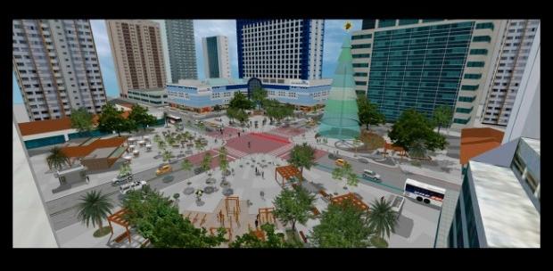 Modelo apresentado pela Prefeitura de Fortaleza é apenas um desenho conceitual (FOTO: Divulgação)