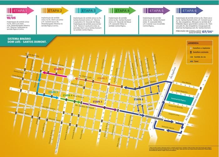 Com a implantação, a Avenida Santos Dumont terá sentido único Centro-Papicu e a Avenida Dom Luís terá sentido único Papicu-Centro. (FOTO: Divulgação)