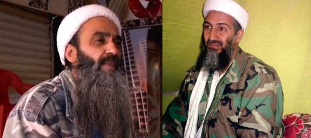 Bin Laden brasileiro de frente para o original. Achou parecido? (FOTO: Reprodução TV UOL e Divulgação)