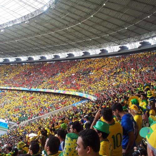 A confusão ocorreu na partida Brasil x México, realizada na última terça-feira (FOTO: Daniel Herculano/Tribuna do Ceará)
