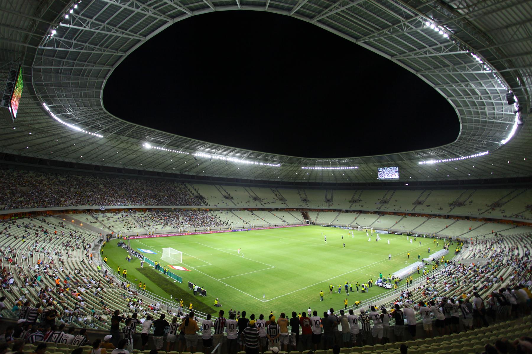 Arena Castelão recebe partida Alemanha x Gana neste sábado (FOTO: Divulgação)