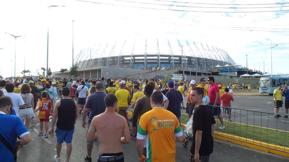 Torcedores não devem levar garrafas de vidro para Arena Castelão (FOTO: Governo do Ceará/ Divulgação)