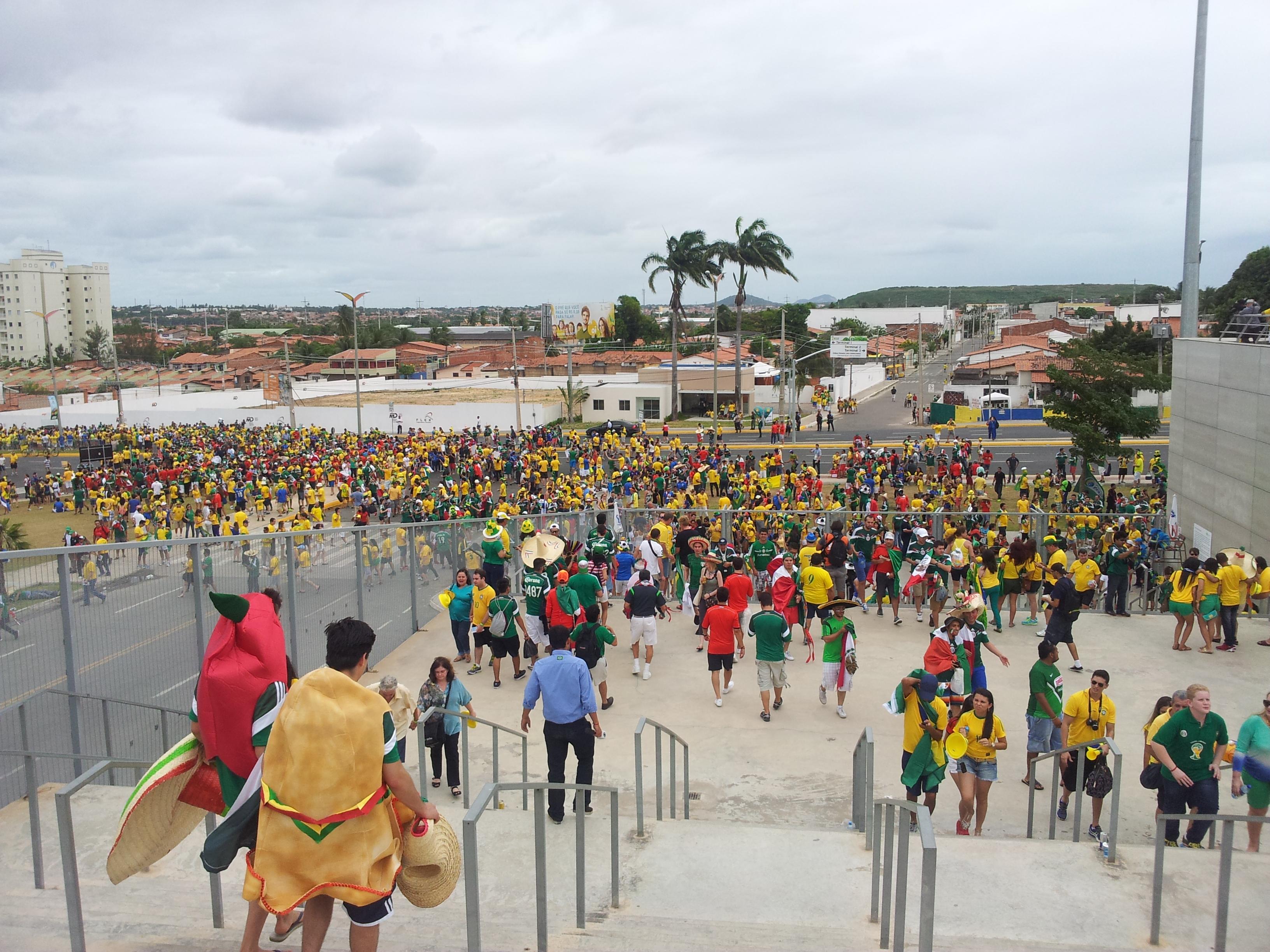 Alemanha e Gana se enfrentam a partir das 16h, na Arena Castelão (FOTO: Tribuna do Ceará/Daniel Herculano)