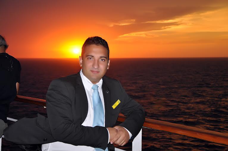 Pôr-do-Sol em alto mar. (FOTO: Arquivo Pessoal)