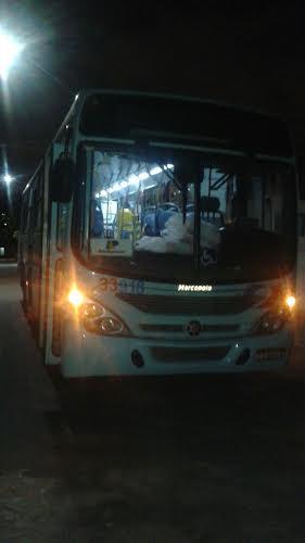 Ônibus onde ocorreu o assalto