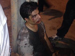 Ao tentar proteger a esposa, cearense foi agredido e ficou desacordado (FOTO: Reprodução/Twitter)