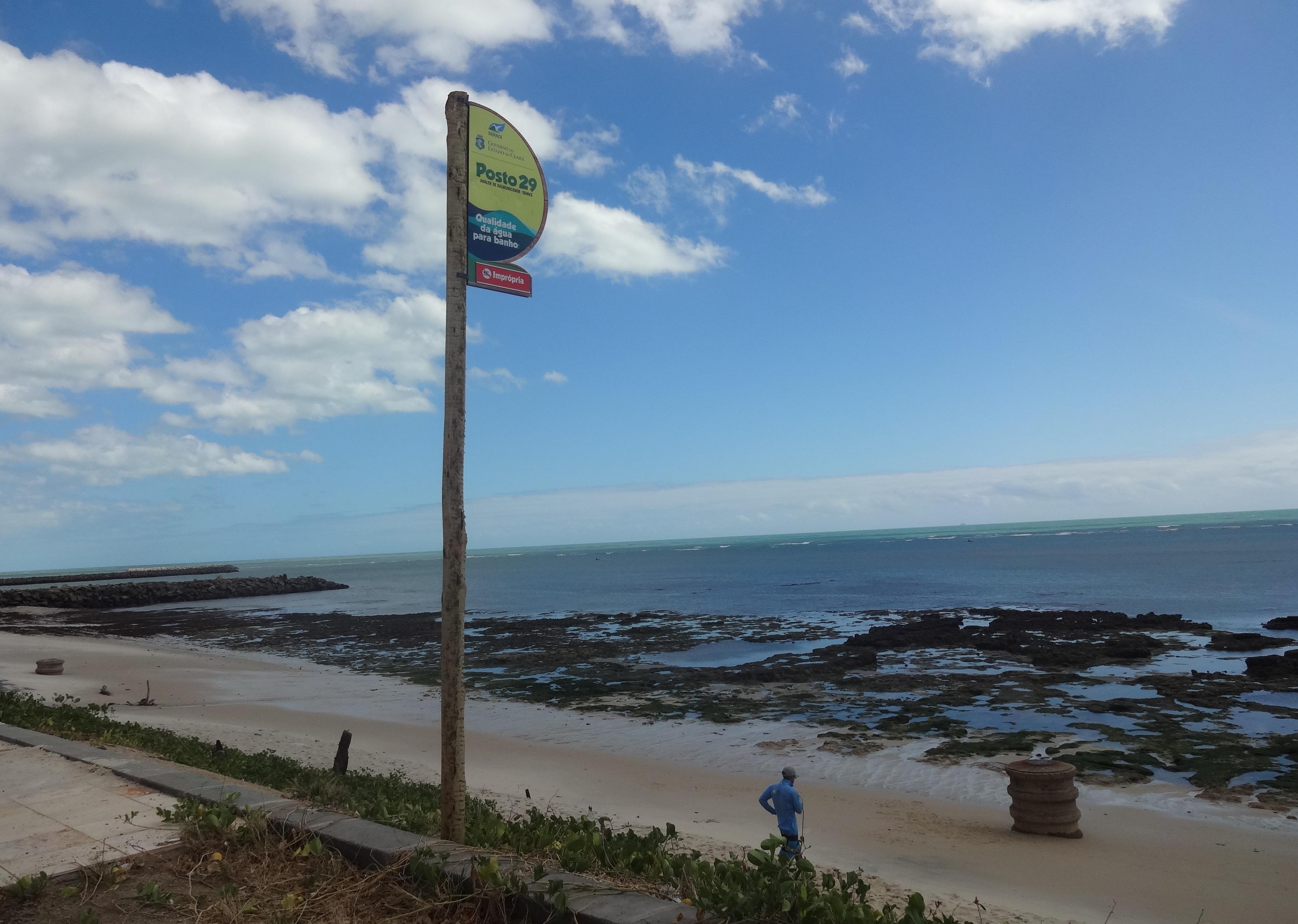 Vistoria de balneabilidade das praias do litoral oeste de Fortaleza
