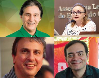 Eunício Oliveira (PMDB), Camilo Santana (PT), Eliane Novais (PSB) e Aílton Lopes (Psol) disputa a eleição para governador do Ceará (FOTO: Divulgação)